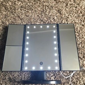 Bath - LED Trifold Mirror